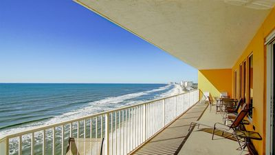 Photo for Oceanfront condo, end unit features easy beach access & shared pools & hot tub!