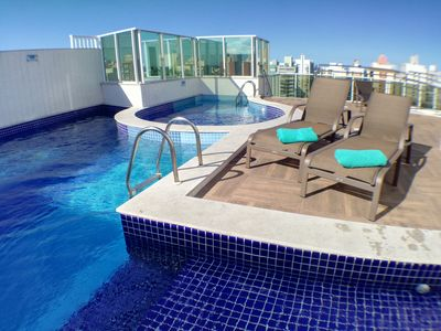 Photo for NEW Luxury Apartment - Air-Conditioned, Pool, Sauna, BBQ, WiFi & Transfer.