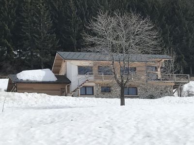 Photo for Luxurious chalet 12/16pp 250M2 La Plagne renovated in 2013. Ski in - ski out