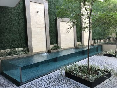 Lobby water feature