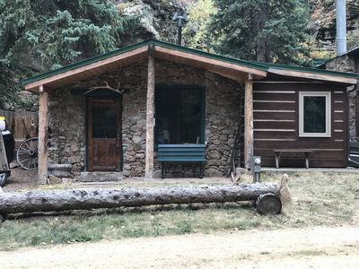 Photo for Rock Creek Cabin with Hot Tub 2 Miles from Rocky Mountain National Park Entrance.