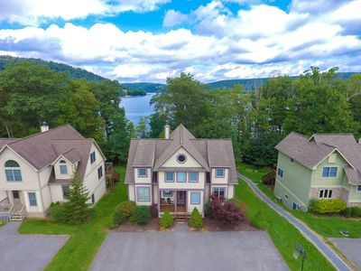 DOGS WELCOME! Lakefront Home w/Dock slip, Hot Tub, Gas Grill, & Fire Pit!