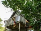 Your own private balcony overlooking our beautiful pond