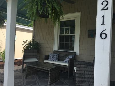 Photo for Ruff Life Beach cottage-1 block from the boardwalk-Short walk to the beach