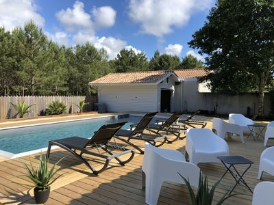 Photo for villa with pool in a very quiet area of ​​biscarrosse plage
