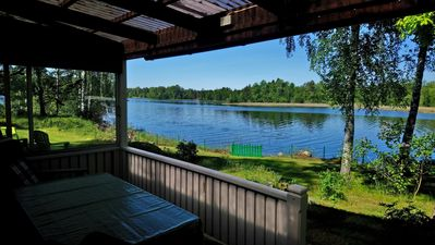 Photo for Direct lake location near Vimmerby, boat, sauna, fireplace-free: 7.-14. 9 .; from 12. 10. 19