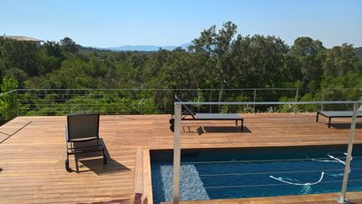 Photo for Villa Mandarine - Superb sea view and maquis, Swimming pool, 5 bedrooms, air-conditioned