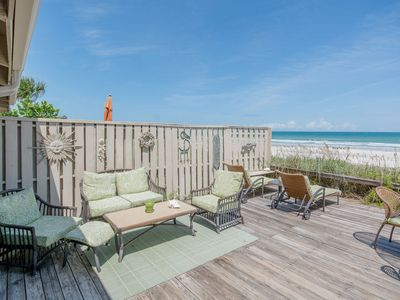 Photo for Wonderfully Spacious, Direct Oceanfront Townhome with Loft - Sea Dunes A2