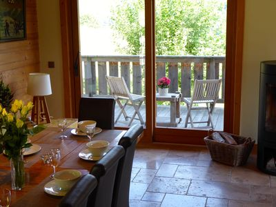 Photo for Beautifully presented Chalet,  with spectacular views of the Mont Blanc Massif
