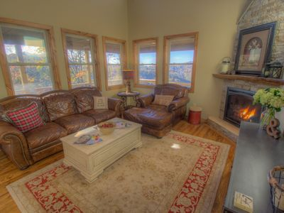 Photo for Newly-Built Blowing Rock Cabin, Long Range Views, Hot Tub, Game Room, and Fire Pit