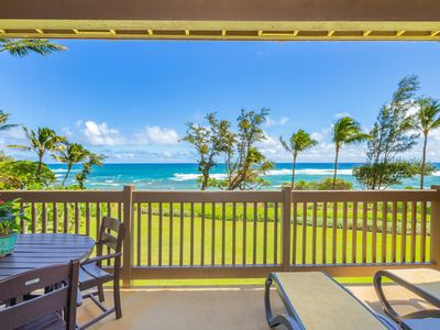 Photo for Kaha Lani Resort #224, Ocean Front, 2nd Floor, Moon Rise & Sunrise Views!