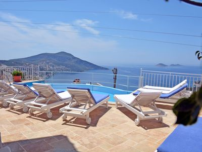 Photo for Magnificent 5 Bedroom Villa with Spectacular Sea View, near the Centre of Kalkan