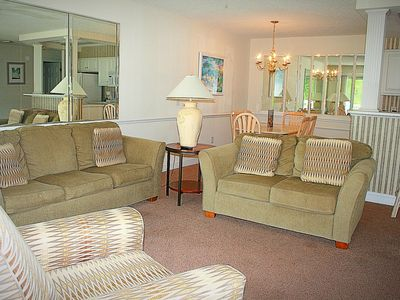 Photo for Overlooking Golf Course, 2 bedroom, 2 bathroom, Full Kitchen Calabash, NC nearby(1408)