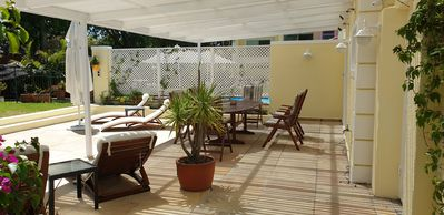 Photo for Holiday Home with 2 Bedrooms, big Veranda, Smart-TV, fast Internet, heated Pool