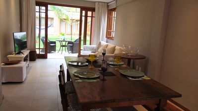 Photo for Praia do Forte - Ground floor apartment 2 garden suites for 4 adults and 2 children