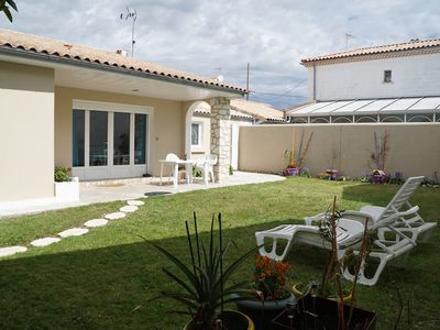 Photo for House in Châtelaillon Beach, quiet with enclosed garden