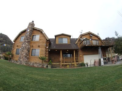 Luxury Log Home Resort on 22 Acres, surrounded by its own mountains!