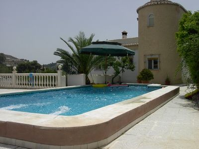 Photo for Detached holiday home with private pool and stunning panoramic views over the sea