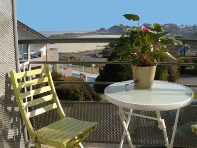 Photo for Apartment with superb sea view and Trestel beach 9 km from Perros Guirec