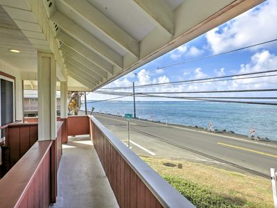 Photo for Oceanfront Hauula Home w/Beach Gear & Amazing View