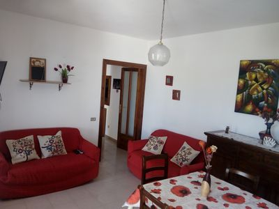 Photo for In independent villa, beautiful air-conditioned apartment 1 km from the beach