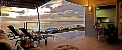 Photo for Caribbean oceanfront villa, private plunge pool, direct seafront access, 2p
