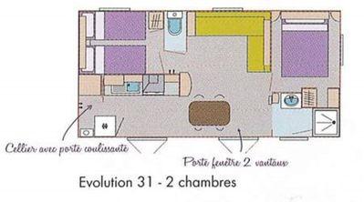 Photo for Mobil Home trigano evolution 31 3 bedrooms 2