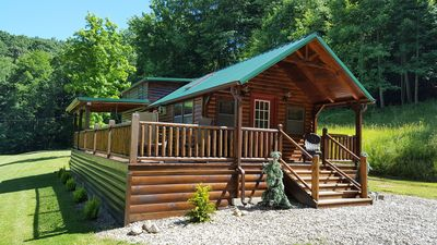 Photo for Log Cabin In The Heart Of Mohican State Park. Premier Location!!  Large Lawn!