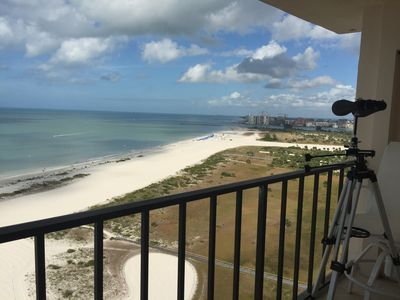 Photo for Beachfront Penthouse in Sand Key's Harbour Light Towers