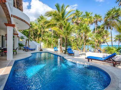 Photo for 5-Star Experience! Oceanfront 4BR/4BA Villa w/ Private Beach + Pool, Snorkelling