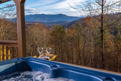 Relax and unwind after a day in the mountains. Unobstructed view. ENJOY