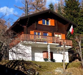 Photo for Holiday Chalet *** + Suns panorama of the Valais Alps / ski-walking area