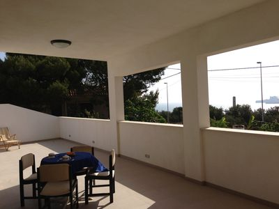Photo for A  Villa With A View - Panoramic, 2 Terraces And Solarium A Few Steps From Sea