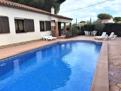 Photo for Detached Villa with Private Pool, near the beach, WiFi Free, Large terrace