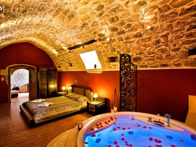 Photo for Arcus Suites - Superior Suite / Tholos -  Luxury Suite with Pool in an original Venetian Village! - Free WiFi