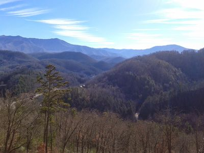Amazing views of the Smokey Mountains from your cabin.