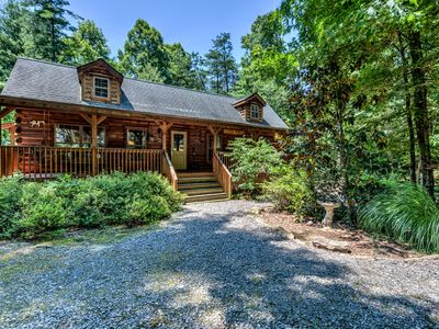 Photo for Hidden Pond - Beautiful cabin with private hot tub, easy drive to town. Includes Biltmore & more!