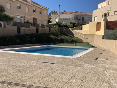 Photo for Townhouse 100 meters from the sea with pool