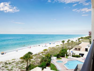 Photo for Beach front with 180 Degree View of the Gulf! 30 ft. Balcony, 6th floor condo
