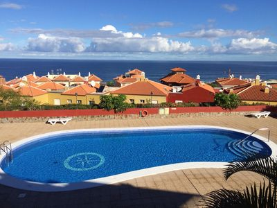 Photo for Large beach apartment in Puerto de la Cruz, with terraces, great views, pool