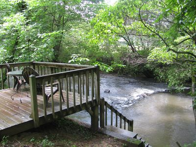 Photo for Secluded Cabin Right on the Ellijay River minutes from Ellijay or Blue Ridge