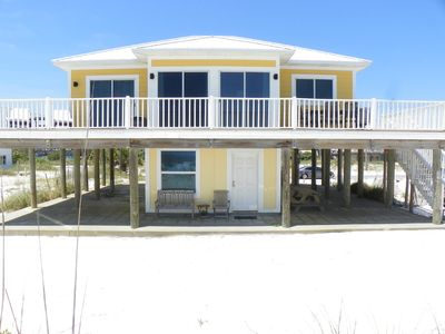 Photo for Bright & sunny Gulf front home with spacious deck for dolphin watching!
