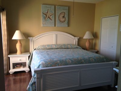 Newly decorated master bedroom