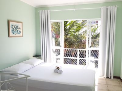 Photo for Suitable for 3 people in a bedroom with balcony and full kitchen.