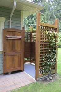 Everyone's favourite, an outdoor shower