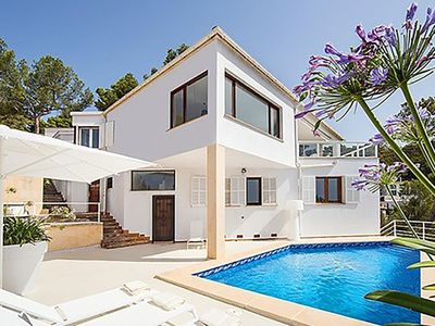Photo for Stunning villa in Costa d'en Blanes with amazing views & saltwater pool