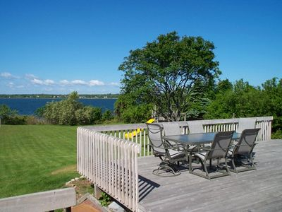 Photo for Ditch Plains Nearby, 3 BEDROOM BEACH HOUSE ON LAKE MONTAUK  w/ SPECTACULAR SUNS