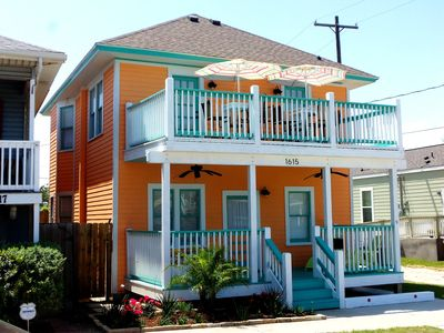A colorful and beachy home awaits you.