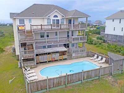 Photo for Beautiful Oceanview Rodanthe-Pool, Hot Tub, Sound Access, Game Rm, Dog-Friendly