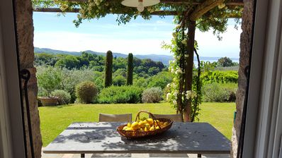 Photo for A lovely place overlooking Lake Bolsena with a private swimming pool !